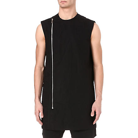 RICK OWENS Sleeveless zip top (Black