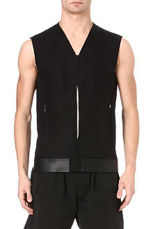 RICK OWENS Laced canvas gilet