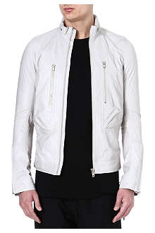 RICK OWENS Viscious hooded leather bomber jacket