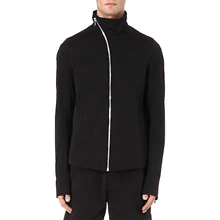 RICK OWENS Funnel neck zip jacket (Black