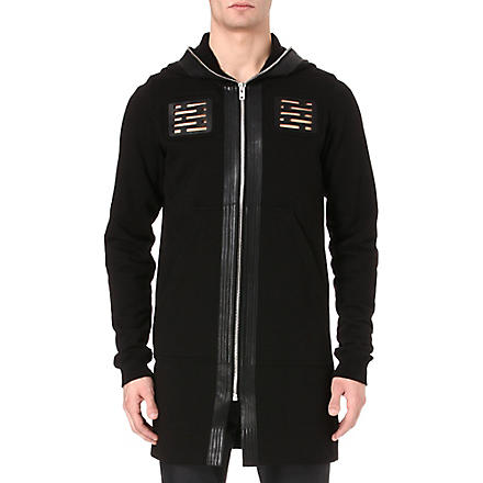 RICK OWENS Vent panel hoody (Black