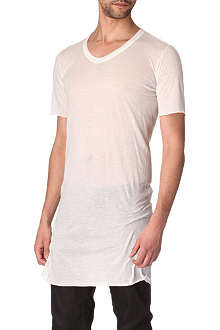 RICK OWENS Long cotton scoop-neck t-shirt