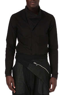 RICK OWENS Funnel-neck silk shirt