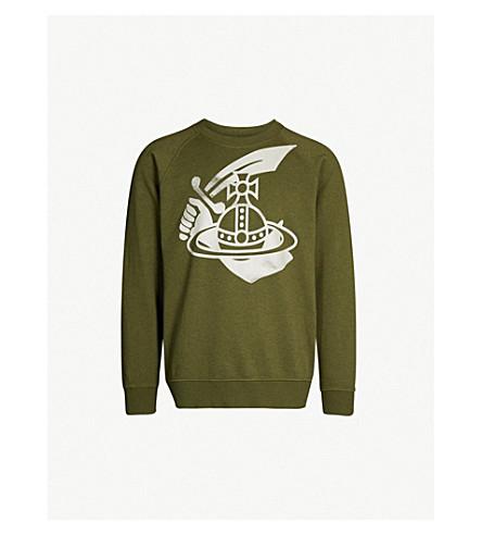 ANGLOMANIA Orb cotton-jersey sweatshirt (Green