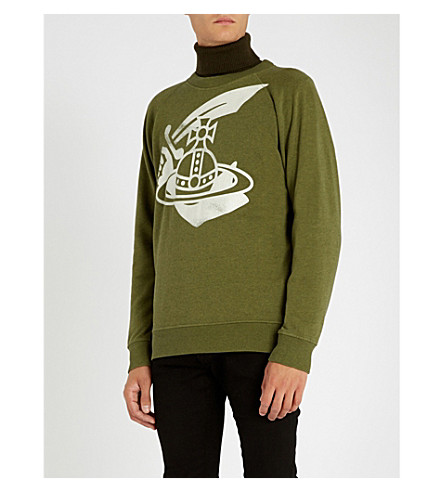 ANGLOMANIA Orb cotton-jersey sweatshirt (Green