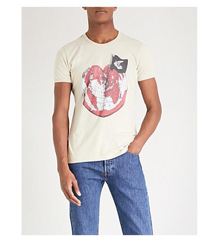 ANGLOMANIA Heart cotton-jersey T-shirt (Ocra