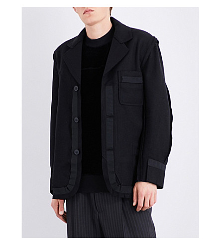 ANGLOMANIA Punk It Up wool-blend jacket (Black