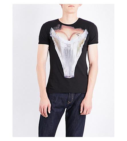 VIVIENNE WESTWOOD Corset cotton-jersey T-shirt (Black