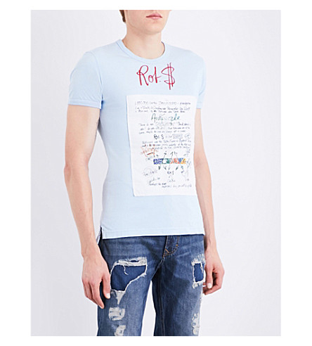 ANGLOMANIA Rot cotton-jersey T-shirt (Blue
