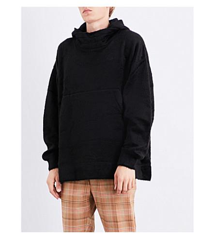ANGLOMANIA Monkey faux-fur hoody (Black