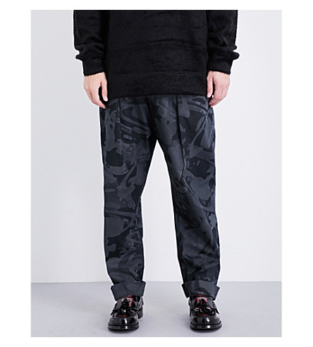 ANGLOMANIA Dietrich regular-fit cotton trousers (Black