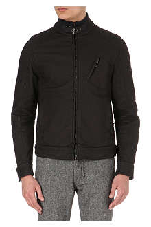 BELSTAFF Rubberised jersey biker jacket