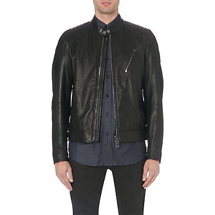 BELSTAFF Kirkham leather jacket (Black