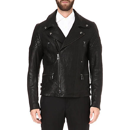 BELSTAFF Thornwood leather biker jacket (Black