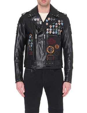 BELSTAFF Studded leather blouson biker jacket