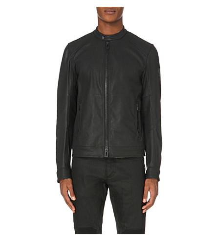 BELSTAFF Grandsdale waxed-denim jacket (Black