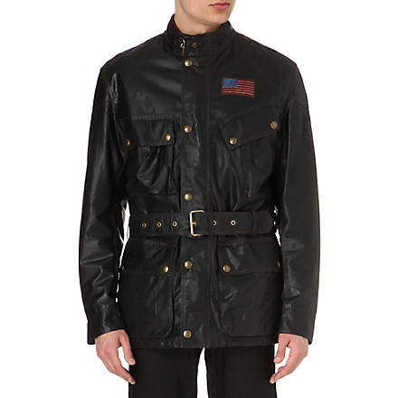 BELSTAFF Icon waxed-cotton racing jacket (Black