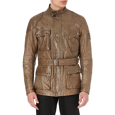 BELSTAFF Panther hand-waxed leather jacket (Birch
