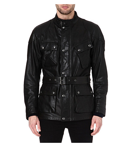 BELSTAFF Panther hand-waxed leather jacket (Black
