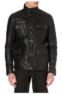 BELSTAFF Warrington waxed leather field jacket
