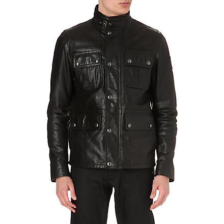 BELSTAFF Warrington waxed leather field jacket (Black