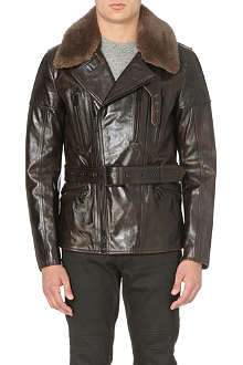 BELSTAFF Shearling leather biker jacket
