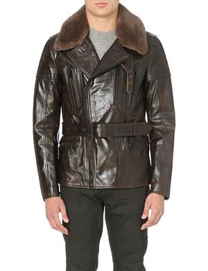 BELSTAFF Shearling leather biker jacket