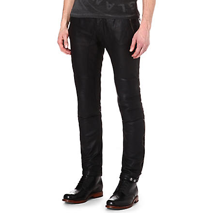 BELSTAFF Telford leather biker trousers (Black
