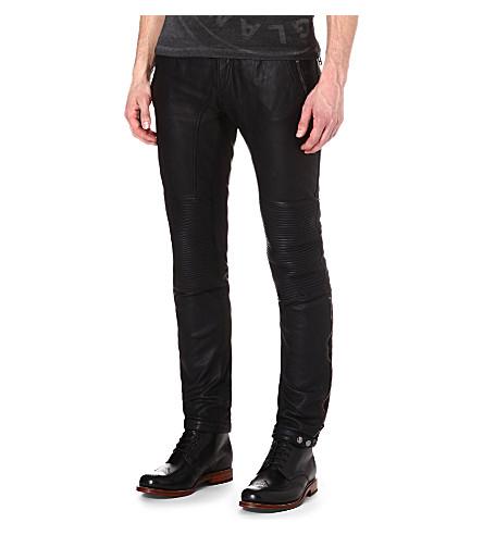 BELSTAFF Telford leather biker trousers (Black