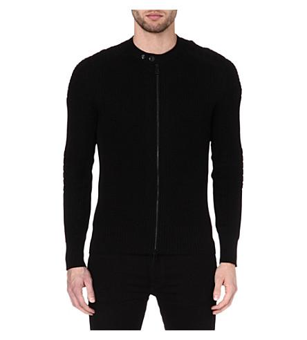 BELSTAFF Cranfield zip cardigan (Black