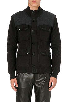 BELSTAFF Patch pocket chunky-knit cardigan