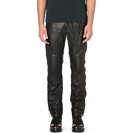 BELSTAFF Telford leather trousers (Black