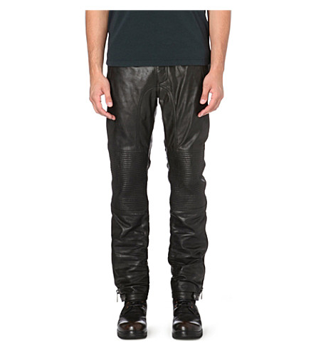 BELSTAFF Telford leather trousers (Black