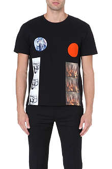 RAF SIMONS Planet circle t-shirt