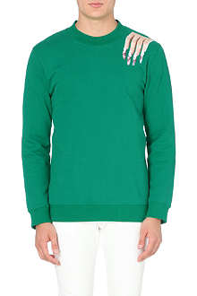 RAF SIMONS Nails cotton-jersey sweatshirt