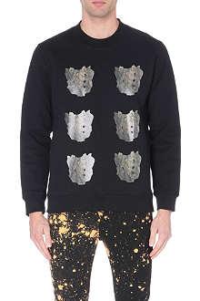 RAF SIMONS Pelvic Bone cotton-jersey sweatshirt