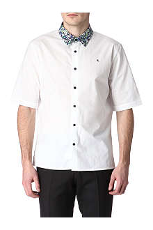 RAF SIMONS Printed-collar shirt