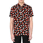 RAF SIMONS Floral cotton shirt