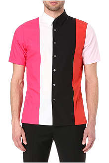 RAF SIMONS Colourblocked shirt
