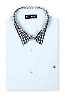 RAF SIMONS Gingham collar shirt