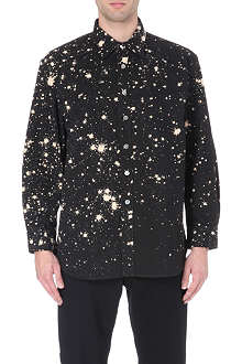RAF SIMONS Bleach splatter print bleach shirt