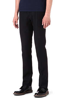 RAF SIMONS Slim-fit contrast waist trousers