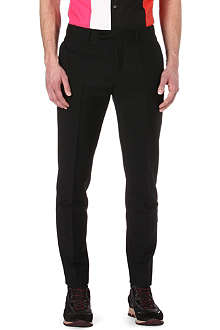 RAF SIMONS Wool and mohair-blend trousers