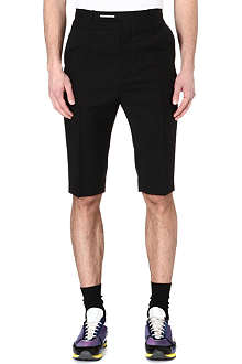 RAF SIMONS Drop-crotch wool shorts