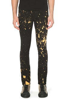 RAF SIMONS Bleach Splatter slim-fit skinny jeans
