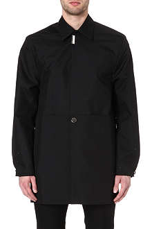 RAF SIMONS Perforated single-breasted overcoat