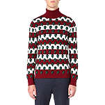 RAF SIMONS Striped question-mark jumper