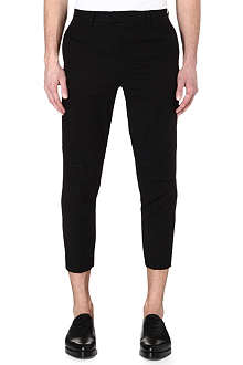 UNDERCOVER Cropped mesh-panel trousers