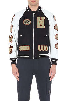 UNDERCOVER Printed cow hide bomber jacket