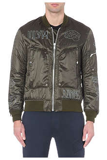 UNDERCOVER Printed satin bomber jacket